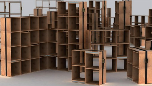 Ombelico Sweet Belted Modular Storage By Marc Sadler