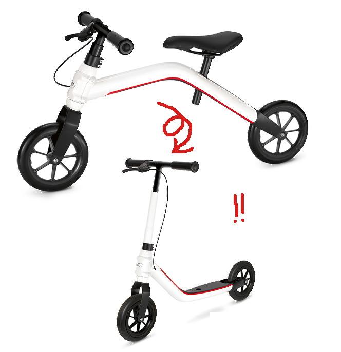 Like-A Scoot&Ride: The Audi Mini Runner Balance Bike/Scooter Combo