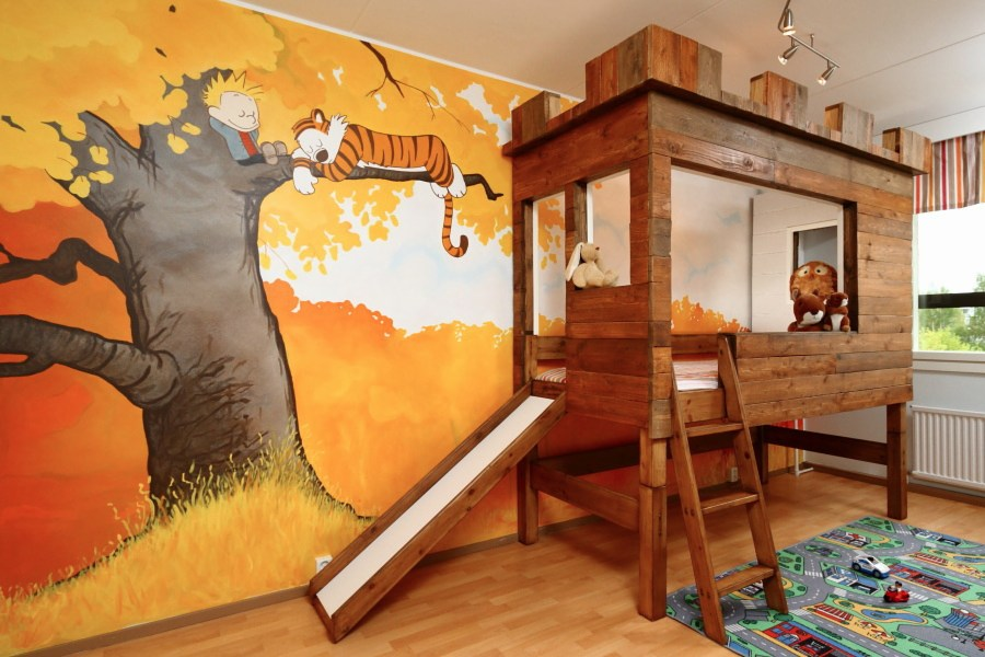 calvin hobbes nursery murals daddy types. Black Bedroom Furniture Sets. Home Design Ideas