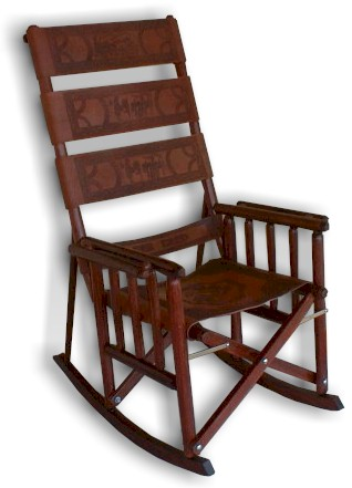 Superbe Los Folding Rocking Chairs De Costa Rica
