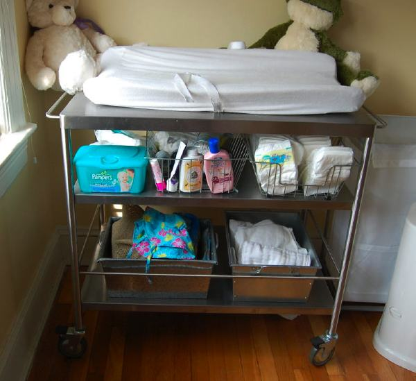 Ikea Floor Lamp Apartment Therapy ~  Stainless Steel Changing Table From Ikea Kitchen Cart  Daddy Types