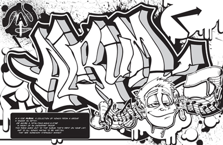 My first graffiti coloring book is actually my third
