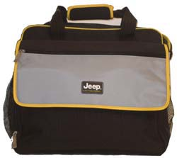 Jeep black nylon diaper bag