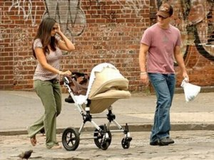 the damon family with their bugaboo