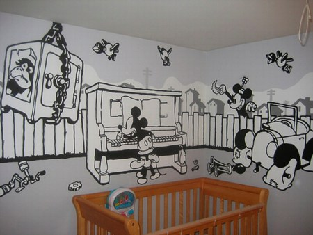 M i c see this awesome vintage mickey mural daddy types for Celebrity mural