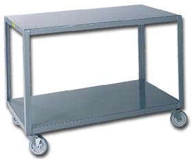 Mobile steel table as a possible baby changing table, from motionsavers