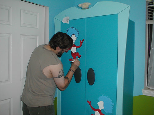 Beau Hand Painted Nursery Seuss Scape