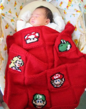 Knitty McKnit-Knit: Mario Kart Invincibility Star Pattern