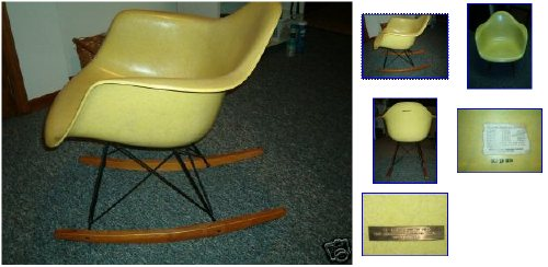 Pristine Eames Rocker, One Baby Having, HM Employee Owner, On EBay