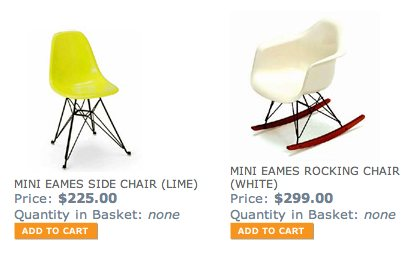 Strange Whoa Bold Move Kid Sized Mini Eames Chairs From Park Gmtry Best Dining Table And Chair Ideas Images Gmtryco