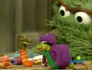 1955 further Weekly Muppet Wednesdays Oscar The Grouch in addition Episode 4260 together with C2VzYW1lIHN0cmVldCByb3NpdGE also Slimey's World Games. on oscar grouch worm