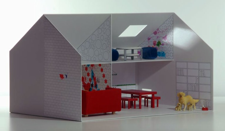 Astounding Paper Dollhouse Templates Interior Design Ideas Tzicisoteloinfo