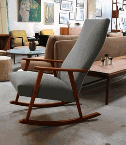 Sweet comfy looking danish rocker from surfing cowboys - Rocking chair jardin ...