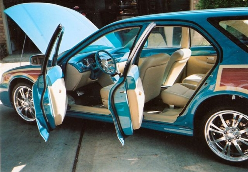 This 1996 Honda Accord SEMA Show Car has a custom air-brushed paint job,