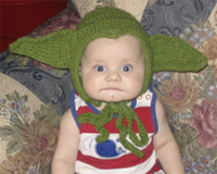 craftster.org handmade yoda baby hat