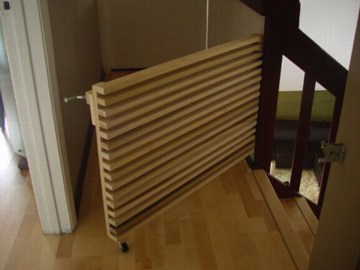 Sweet Diy Stair Gate Currently In Testing Phase Daddy Types